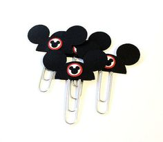 Planner Clip Mickey Mouse Ears Walt Disney by PlannerClipsByMC Disney Trips, Walt Disney, Day Planner Organization, Mickey Mouse Ears, Day Planners, Erin Condren, Paper Clip, Filofax, Disneyland