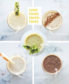 Smoothies that taste like dessert? Yes, please! When the cravings hit, don't reach for the cupcakes. These yummy smoothies are a healthy way to satisfy your sweet tooth without the guilt, so get sippin'!