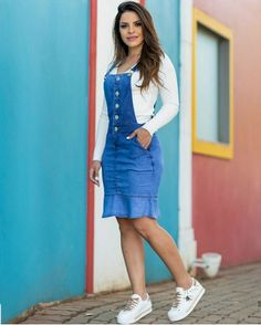 Ideas Fashion Modest Christian Jean Skirts For 2019 Denim Skirt Outfits, Denim Outfit, New Outfits, Cute Outfits, Fashion Outfits, Fashion Typography, Skirt Fashion, Trendy Fashion, Runway Fashion