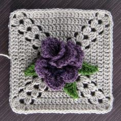 Crochet Granny Square Patterns Ravelry: Pansy Perfection pattern by Terry Kimbrough - Point Granny Au Crochet, Crochet Flower Squares, Crochet Squares Afghan, Crochet Motifs, Crochet Blocks, Granny Square Crochet Pattern, Crochet Flower Patterns, Crochet Blanket Patterns, Crochet Stitches
