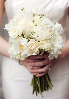 Bouquet shape - all white is an option