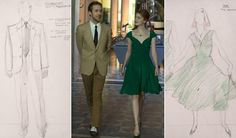 """Emma Stone and co-star Ryan Gosling take a stroll in their costumes designed by Mary Zophres for the hit film """"La La Land"""" in 2016. The film is up for 14 nominations, a record-tying number equal to """"Titanic"""" and """"All About Eve."""""""
