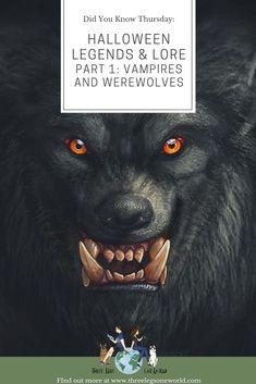 Vampire History, Witch History, Wolf Mythology, Halloween Legends, Werewolf Legend, Vampire Legends, Vlad The Impaler, Myths & Monsters, Legend Of Sleepy Hollow