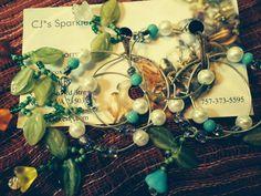 Six Flower Garden Wine Charms by CJsSparkles on Etsy, $17.00