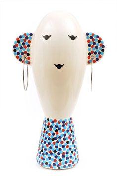 Ceramics  : ALESSANDRO MENDINI (BORN 1931) A VASO VISO manufactured by Alessi Italy 2001 c