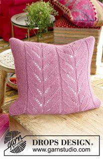 Interior - Free knitting patterns and crochet patterns by DROPS Design Double Knitting Patterns, Lace Patterns, Crochet Patterns, Stitch Patterns, Drops Design, Knitted Cushion Covers, Knitted Cushions, Crochet Home, Knit Crochet
