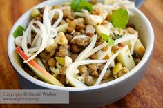 Warm Lentil Salad with Celery Root, Apples and Hazelnuts it not my favorite but is really good