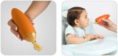 Squirt Food Dispensing Spoon by Boon at BabyEarth.com, $7.95