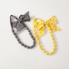 Polka dotted cloth necklaces - looks easy to make