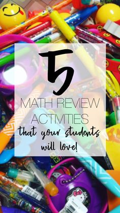 Math Review Activities that your students will love- great for end of the year, finals review and state testing review Math Games, Math Activities, Math Assessment, Order Of Operations, 7th Grade Math, Secondary Math, Math Test, Elementary Math, Math Classroom