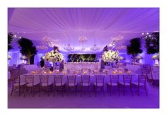 Love with the use of lighting you can transform a marquee!