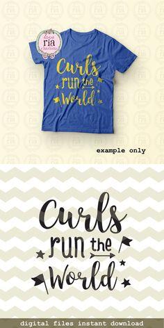 Curls run the world fun kids curly hair quote by LoveRiaCharlotte