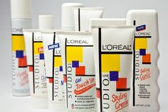 Embalagem L'oréal inspirada na obra de Piet Mondrian