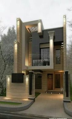 54 Trendy Ideas House Design Exterior Modern Dream Homes House Front Design, Modern House Design, Modern House Exteriors, House Exterior Design, Architecture Design, Contemporary Architecture, Contemporary Landscape, House Elevation, Front Elevation