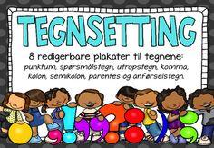 Tegnsetting plakater Redigerbare (BM)