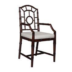Chloe Arm Chair, Dark Walnut - Bungalow 5