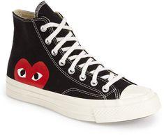 check out 97736 6a220 Comme des Garcons x Converse Chuck Taylor(R) - Hidden Heart High Top Sneaker