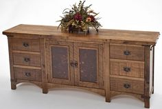 Reclaimed Wood Bungalow Sideboard - 2 Doors, 6 Drawers   Custom Sizes Available