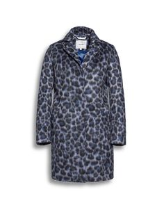 Beaumont Amsterdam Special Offer animal print coat in blue Irish Fashion, All Fashion, Beaumont Amsterdam, Summer Jacket, Spring Jackets, Down Coat, Quilted Jacket, Long Hoodie, Jacket Style