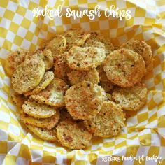 Lightly breaded summer squash flavored with parmesan cheese and herbs.