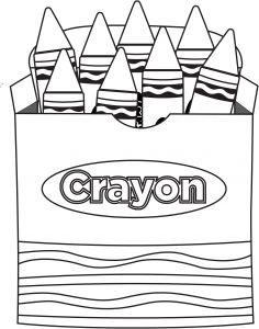 crayon shape printable The Crayon Box that Talked