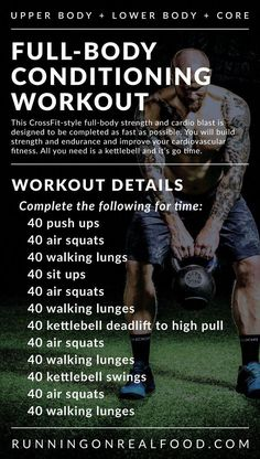 A full-body workout that will target the whole body but specifically the legs and glutes. This workout takes minutes depending on your fitness level.& The post Full-Body Conditioning Workout appeared first on Shane Carlson Fitness. Full Body Workouts, Fitness Workouts, At Home Workouts, Cross Fit Workouts, Fitness Hacks, Full Body Kettlebell Workout, Kettlebell Challenge, Mens Full Body Workout, Kettlebell Circuit