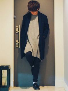 この前あげたロングニットのコーデのスヌードない奴〜🏂 《サイズ》 knit:F coat:2 p
