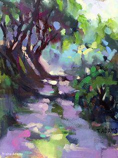 Farm Road at La Capella by Trisha Adams Oil ~ 16 x 12