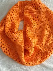canaletto cowl pattern by megan goodacre as seen on revelry. i'm also in love with this bright orange.
