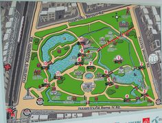 Map of Lumpini Park - Bangkok, Thailand One of my favourite park's I've had the pleasure of exploring.