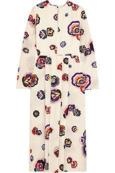 MSGM Printed silk dress | NET-A-PORTER