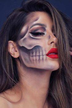 Really Cool Skeleton Makeup Ideas to This Halloween ★ Zie meer: glaminati . - Really Cool Skeleton Makeup Ideas to This Halloween ★ Zie meer: glaminati … - Zombie Makeup, Fx Makeup, Makeup Tips, Makeup Ideas, Makeup Brushes, Scary Makeup, Clown Makeup, Werewolf Makeup, Chanel Makeup