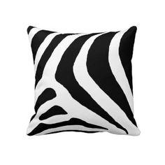 Black and white zebra print pillow