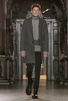 A look from the Pringle of Scotland Fall 2015 Menswear collection.
