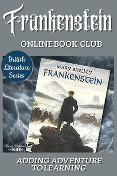 In this course, we will read through the book Frankenstein by Mary Shelley. As we are reading, we will go on rabbit trails of discovery into history, culture, science, and more. We will find ways to learn by experiencing parts of the book through hands-on activities. This online literary guide has everything you need to study the book. This course includes vocabulary, grammar, discussion questions, rabbit trails, and a writing project. It is perfect for a month of high school level… British Literature, Classic Literature, Children's Literature, Homeschool Books, Homeschool Kindergarten, Homeschooling Resources, Book Club Books, The Book, Good Books