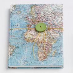 Bespoke map Atlas setchbook by Bombus on Etsy, $50.00