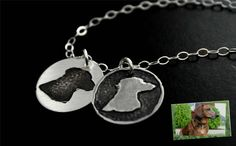 YOUR Pets or Childs Silhouette or Paw Print by StampedByTheHeart