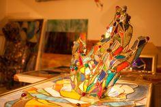 Artist plastic, specializat în vitralii tehnica Tiffany, tablouri și alte obiecte decorative. Execută variate lucrari in domeniul decoratiunilor interioare. Fair Grounds, Tiffany, Painting, Plastic, Painting Art, Paintings, Painted Canvas, Drawings