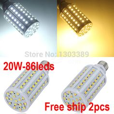 LED light lamps e27 led light 5050 e27 110V/220V 2Pcs/Lot Energy Efficient Corn Bulbs E27 5050 86LEDs Lamp 5050 SMD 20W #Affiliate