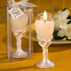 Shop Double Heart Design Champagne Flute Candle Holders at Elegant Gift Gallery. We're your number one source for candle wedding favors and bridal shower favors. Nautical Wedding Favors, Candle Wedding Favors, Candle Favors, Wedding Party Favors, Wedding Ideas, Wedding Stuff, Favours, Wedding Flavors, Design Candle Holders