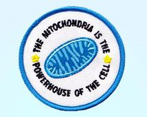 The Mitochondria Is The Powerhouse of The Cell Embroidered Iron-On Patch - Patch…