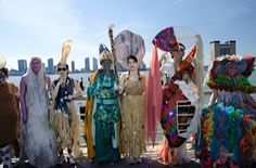 Earth Celebrations Hudson River Pageant, New York City. River Species costumes. Photo by Christopher Butt.