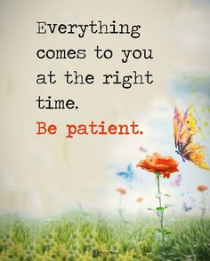 Be patient quotes life wisdom patience motivation inspiring life quotes Positive Quotes For Life, Inspiring Quotes About Life, Meaningful Quotes, The Words, Wisdom Quotes, Quotes To Live By, Time Quotes, Be Patient Quotes, Be Patient With Me