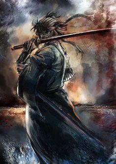 Safebooru is a anime and manga picture search engine, images are being updated hourly. Ronin Samurai, Samurai Warrior, Rurouni Kenshin, Manga Anime, Manga Art, Dark Fantasy, Fantasy Art, Guerrero Ninja, Kenshin Le Vagabond