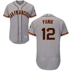 8b529db440082 Giants #12 Joe Panik Grey Flexbase Authentic Collection Road Stitched MLB  Jersey Soccer Jerseys,