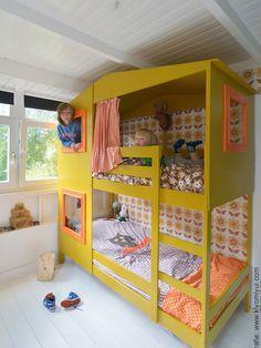 Stijlvolle IKEA hack mydal bed - maak zelf van een ikea stapelbed een bedhuis voor kinderen met deze uitleg