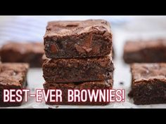 My chef-tested, Best Ever Brownie recipe is everything you'd want in homemade brownies: ooey-gooey and fudge-like with chocolate chunks in every bite.