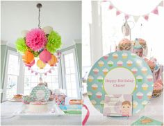 Luv the colorful display above the table!