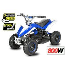 Elektroquad ATV 800W Eco Python Mini Quad Kinderquad 3 Stufen Drossel