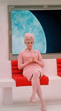 2001 A Space Odyssey (flight attendant); released in 1968